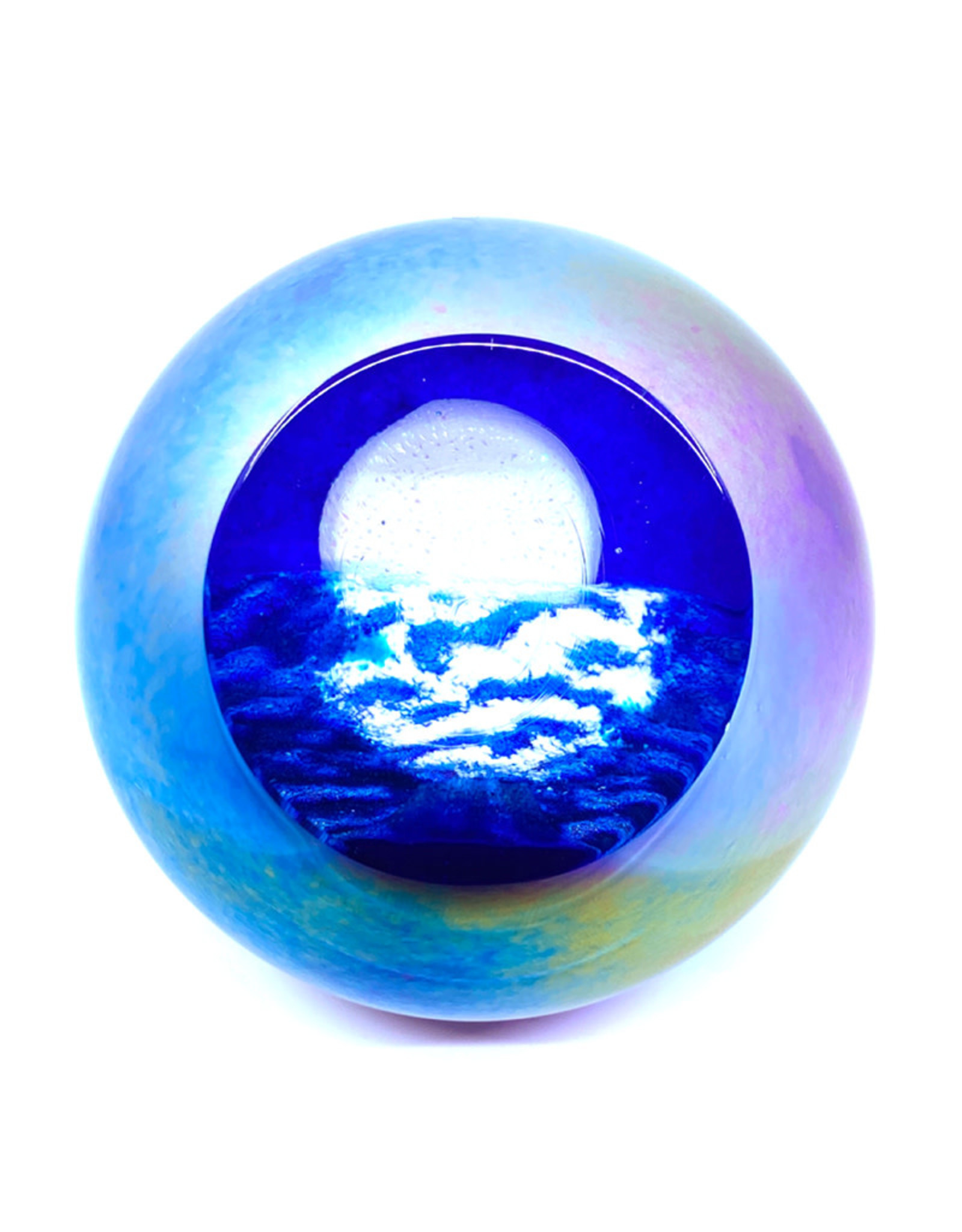 GLASS EYE GOODNIGHT MOON PAPERWEIGHT