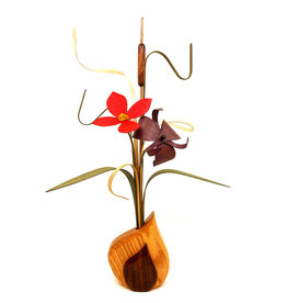 WOOD WILDFLOWERS WOODEN FLOWER ARRANGEMENT - SEEDLINGS II