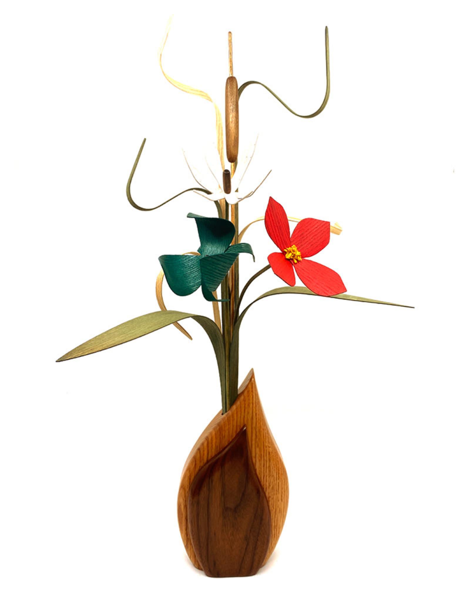 WOOD WILDFLOWERS WOODEN FLOWER ARRANGEMENT - SEEDLINGS III