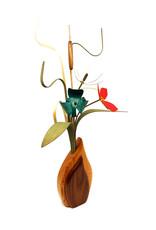 WOOD WILDFLOWERS SEEDLINGS III WOOD FLOWER ARRANGEMENT