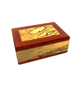 NATURAL RENAISSANCE SPALTED MAPLE & BLOODWOOD KEEPSAKE BOX