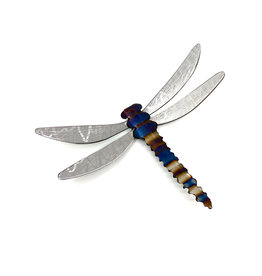 "RUNNING ROCK ART 6"" STEEL DRAGONFLY WALL ACCENT"