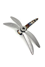 RUNNING ROCK ART 6'' STEEL DRAGONFLY WALL ACCENT