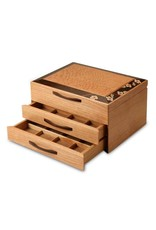 HEARTWOOD CREATIONS CHERRY BLOSSOM 2-DRAWER JEWELRY BOX