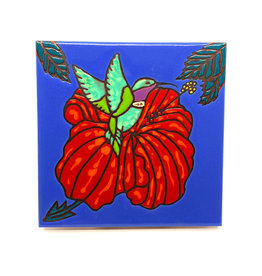 PACIFIC BLUE TILE HUMMINGBIRD TILE