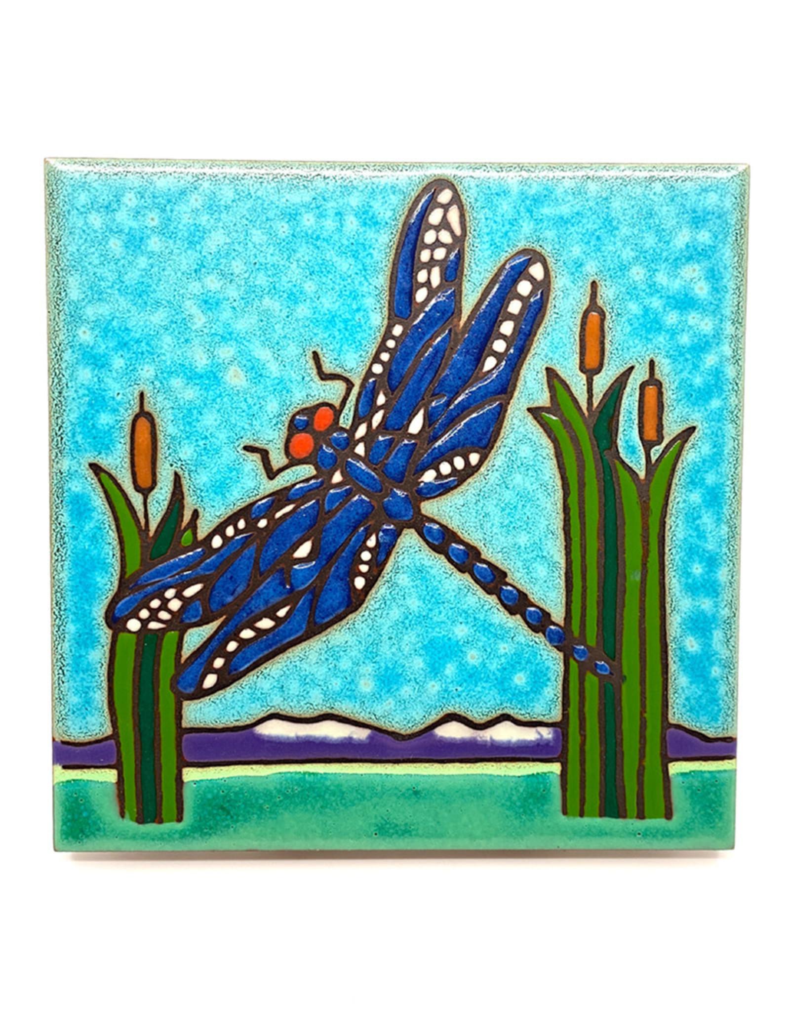 PACIFIC BLUE TILE DRAGONFLY TILE