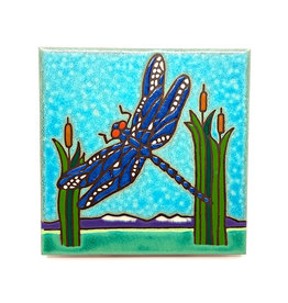 PACIFIC BLUE TILE DRAGONFLY TILE