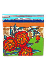PACIFIC BLUE TILE POPPIES TILE