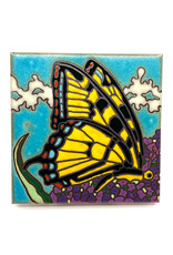 PACIFIC BLUE TILE SWALLOWTAIL BUTTERFLY TILE