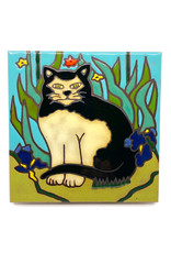 PACIFIC BLUE TILE BLACK & WHITE CAT TILE