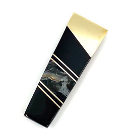 SANTA FE STONEWORKS BLACK SHELL MONEY CLIP