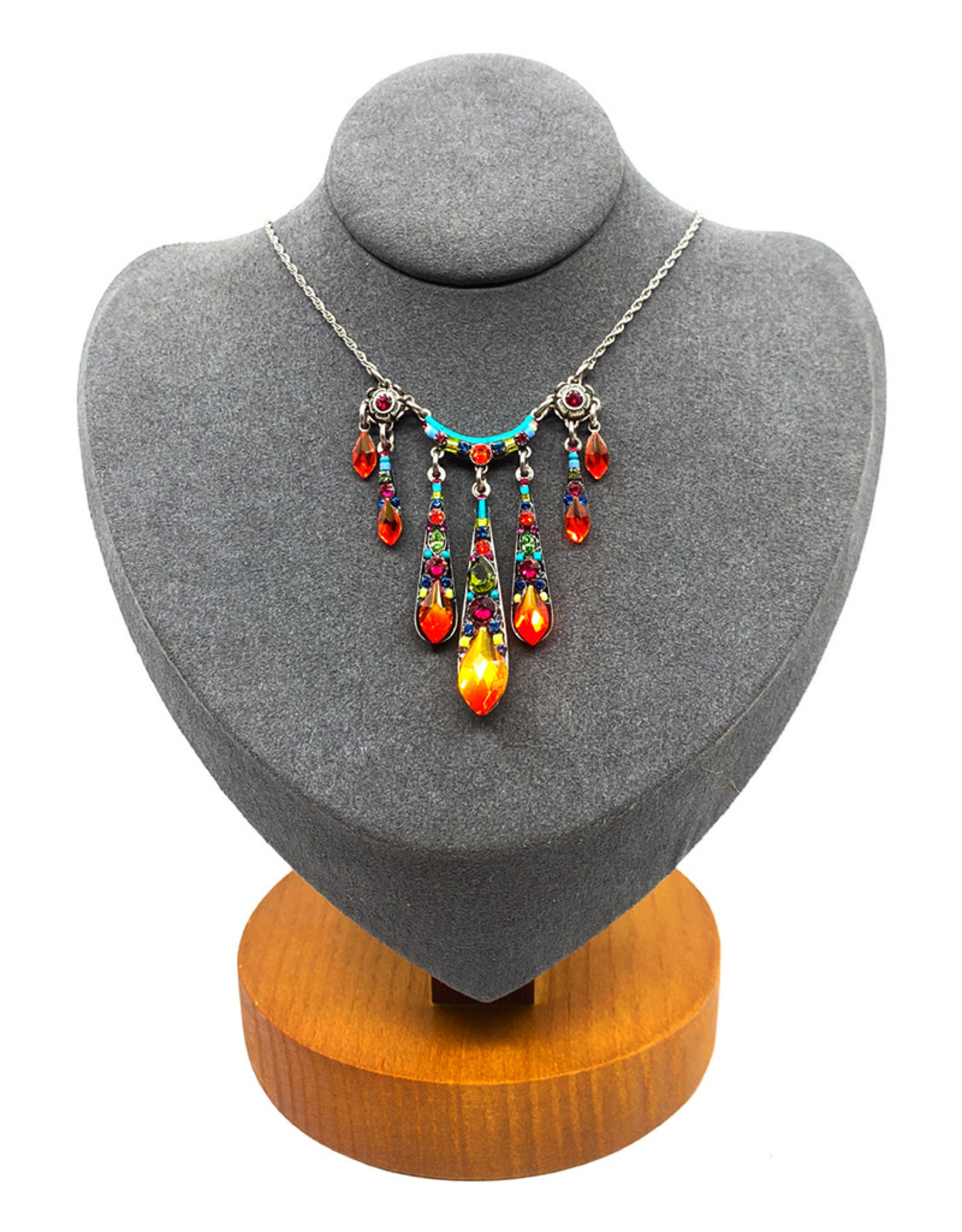 FIREFLY MULTICOLOR SUNRAY NECKLACE
