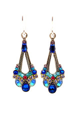 FIREFLY PARISIAN SAPPHIRE CHANDELIER EARRINGS