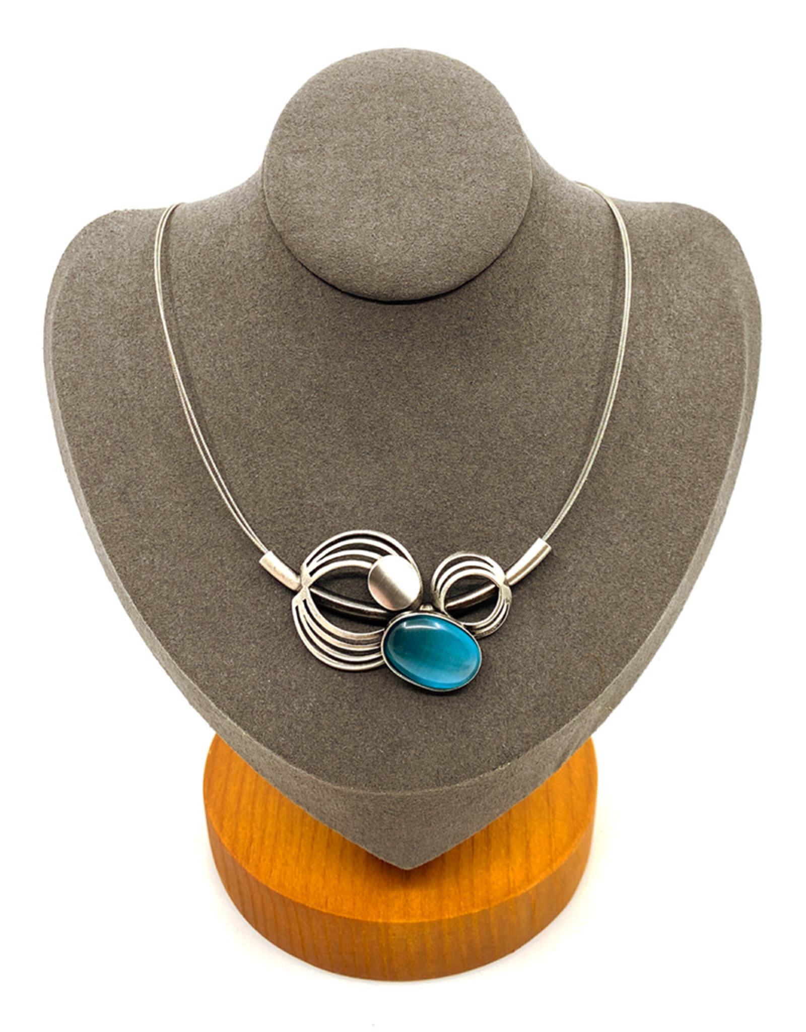 CHRISTOPHE POLY TRIPLE CIRCLE NECKLACE