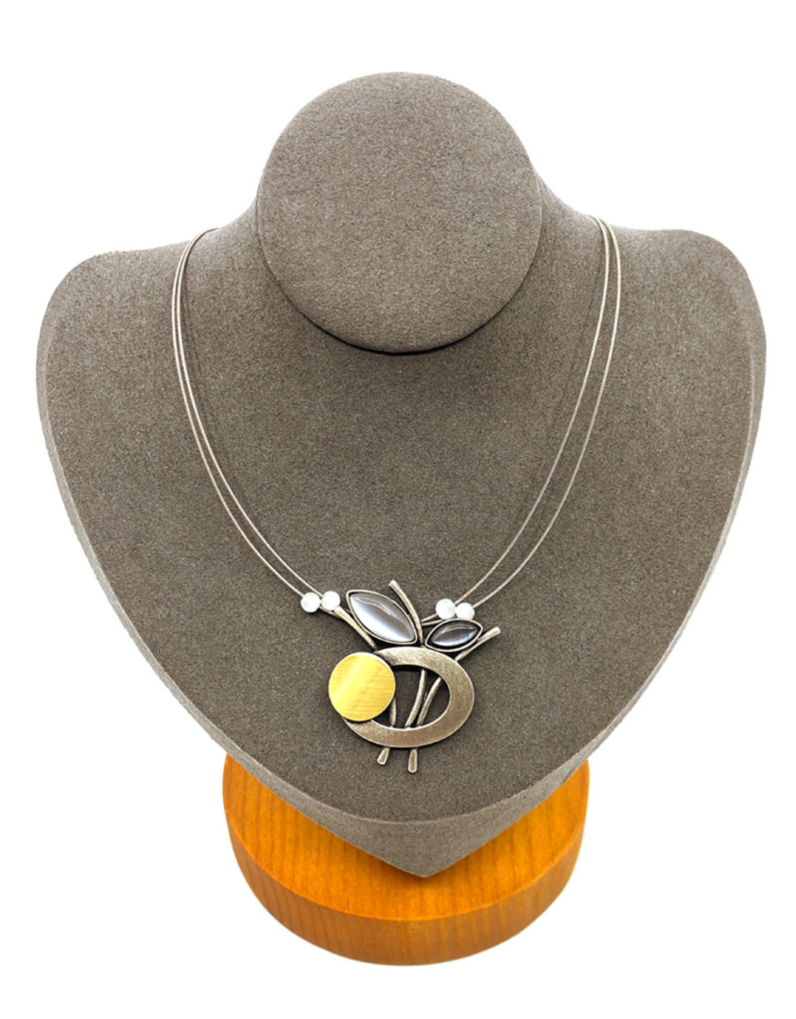 CHRISTOPHE POLY CIRCLE ROD NECKLACE