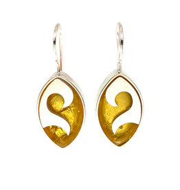VICTORIA VARGA WAVE ELLIPSE EARRINGS