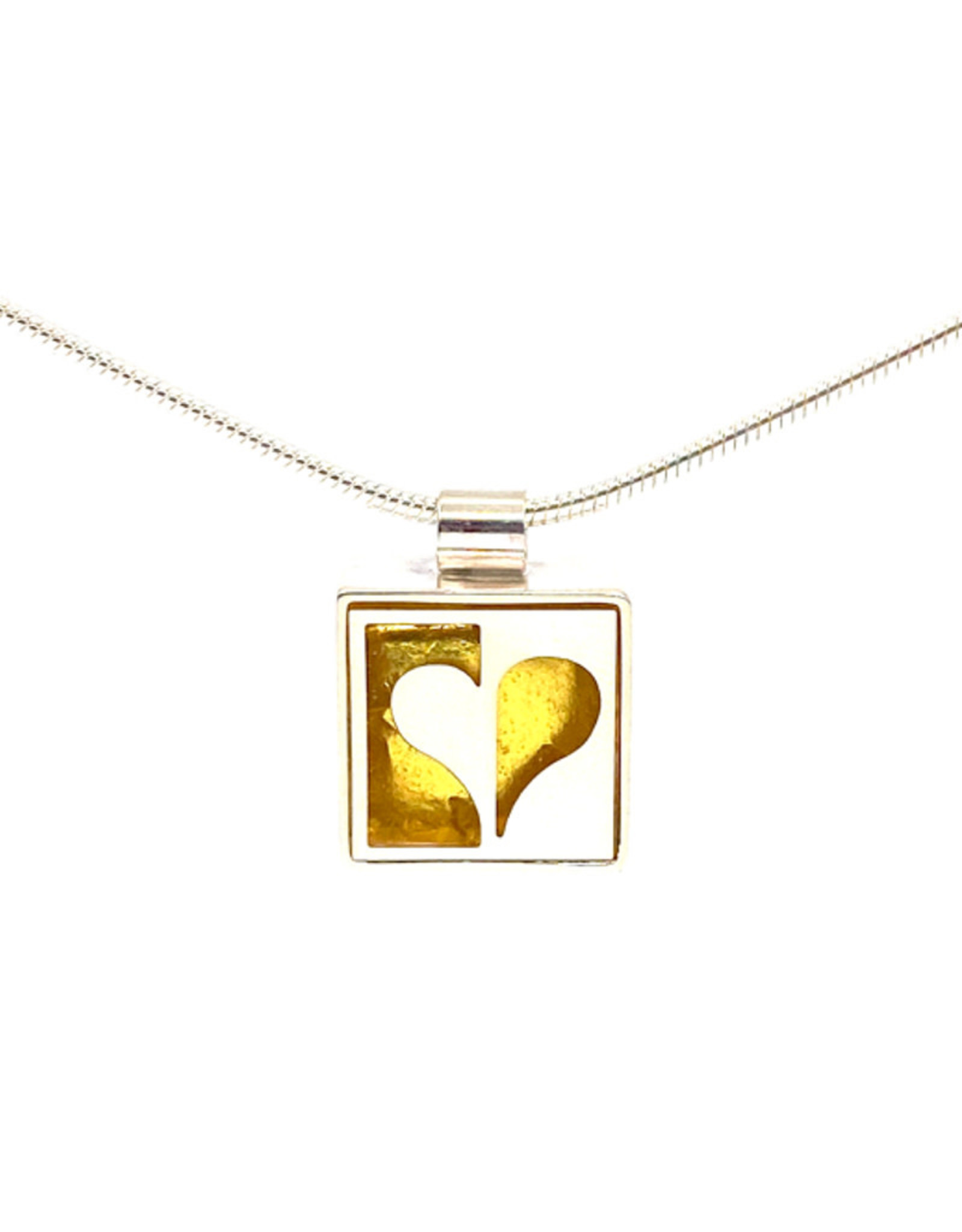 VICTORIA VARGA HALF HEART NECKLACE
