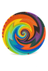 BASKETS OF AFRICA RAINBOW MEDIUM SHALLOW WIRE BOWL