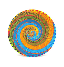 BASKETS OF AFRICA RAINBOW LARGE SHALLOW BOWL