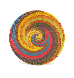 BASKETS OF AFRICA EARTH RAINBOW SHALLOW WIRE BOWL