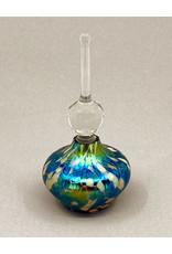 VINES ART GLASS SHORT PURPLE PERFUME BOTTLE