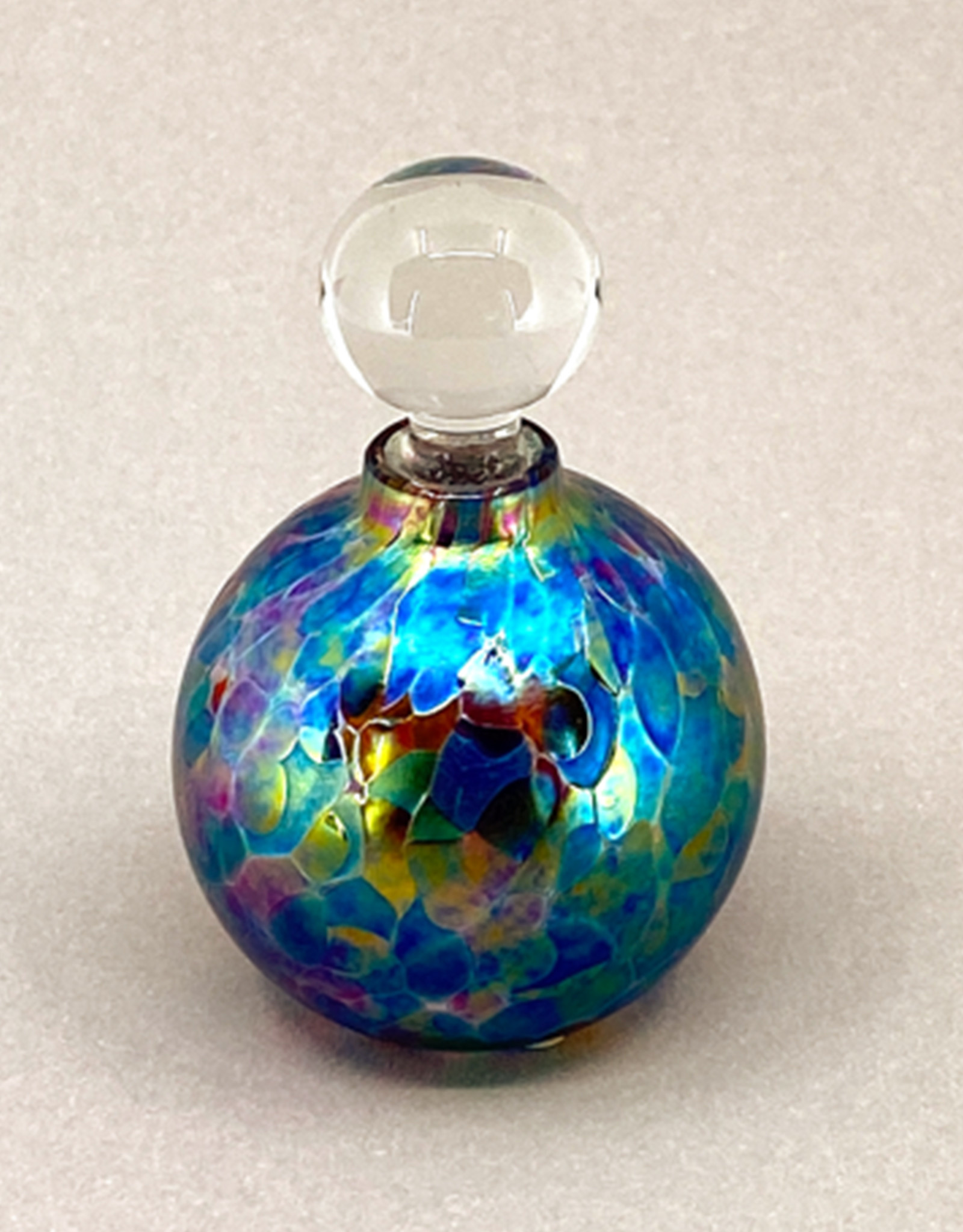 VICTORIA VARGA ROUND STAINED GLASS PERFUME BOTTLE