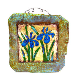 PAPER & STONE LARGE DOUBLE IRIS WALL PLAQUE