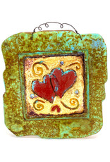 PAPER & STONE HEART DUO WALL PLAQUE