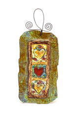 PAPER & STONE FRAMED 3 HEARTS WALL PLAQUE