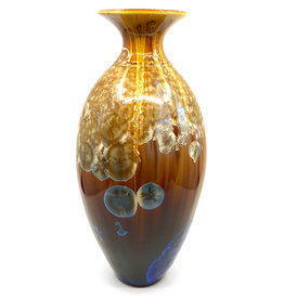 CAMPBELL STUDIOS STELLAR SVELTE SWEET WILLIAM VASE