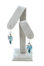 ANGIE OLAMI ROMAN GLASS & GEMSTONE EARRINGS
