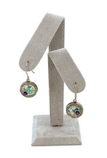 ANGIE OLAMI ROMAN GLASS & AMETHYST EARRINGS