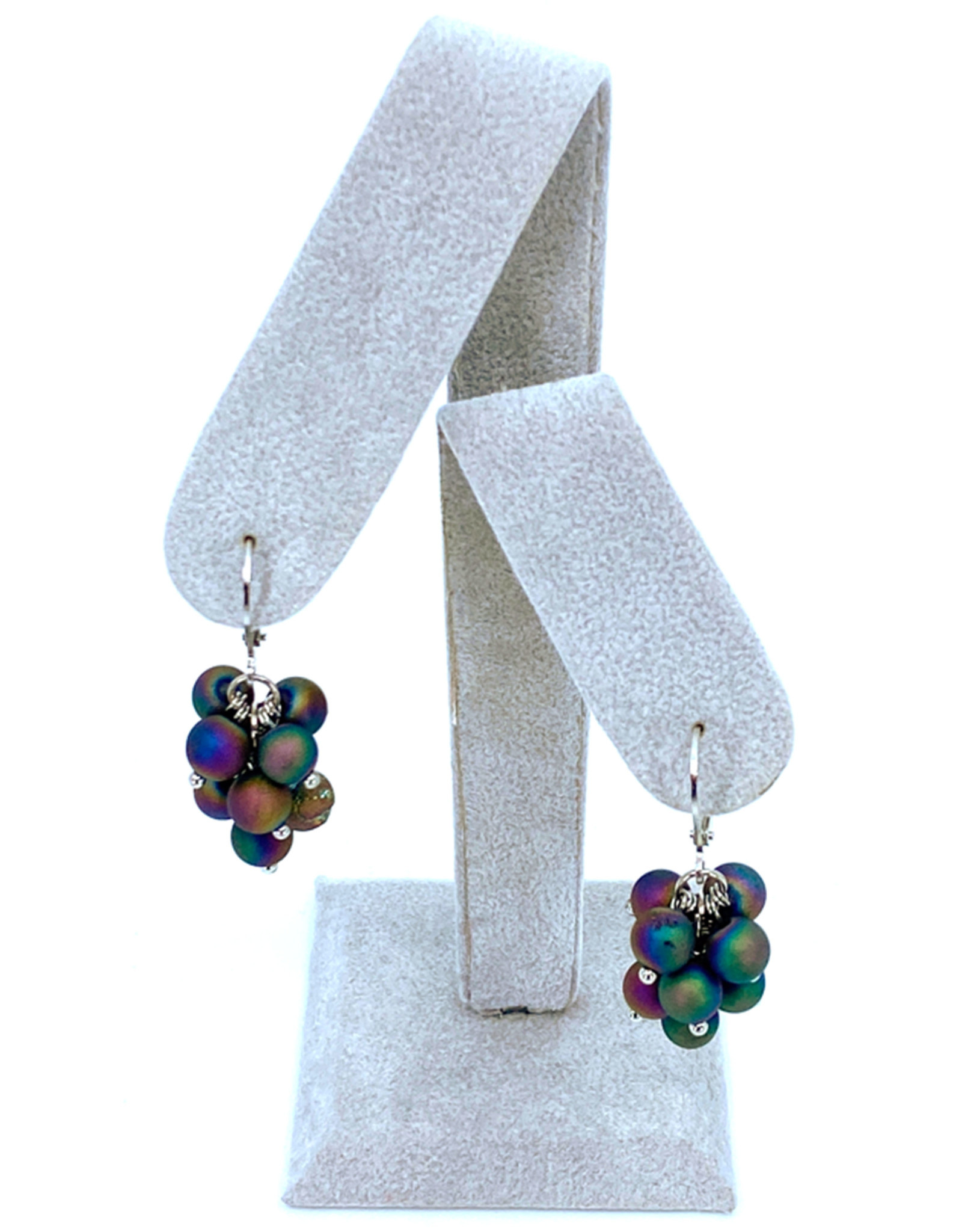 SEA LILY IRIDESCENT CLUSTER EARRINGS