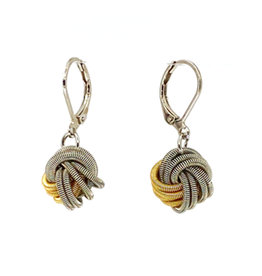 SEA LILY TWO-TONE PIANO WIRE KNOT EARRINGS