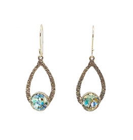 ANGIE OLAMI ROMAN GLASS TEARDROP EARRINGS