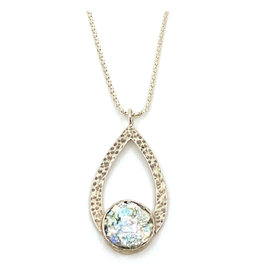 ANGIE OLAMI ROMAN GLASS TEARDROP NECKLACE