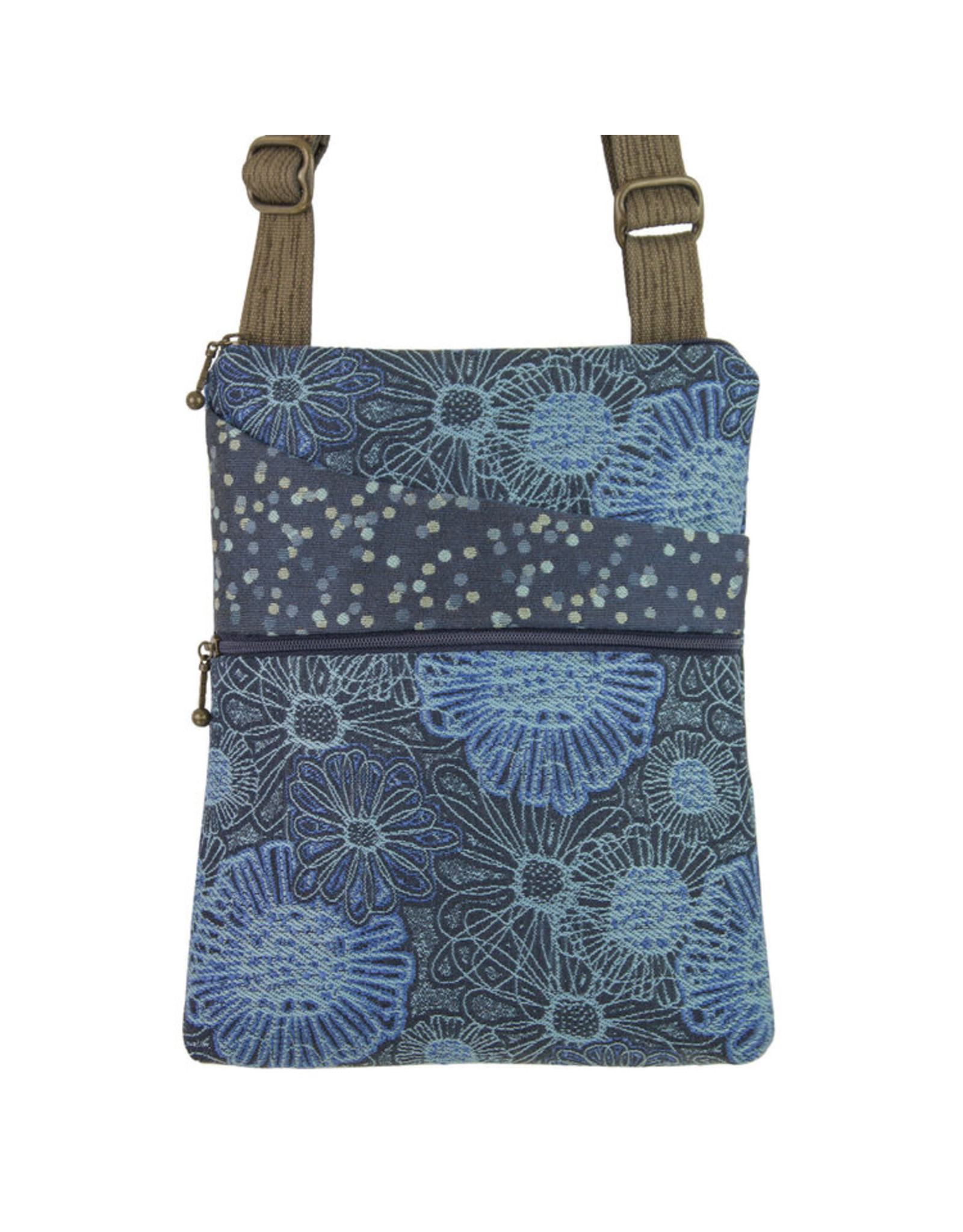 MARUCA BLOOMING BLUE CROSSBODY POCKET BAG