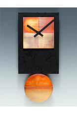 LEONIE LACOUETTE BLACK TIE COPPER PENDULUM CLOCK