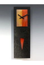 LEONIE LACOUETTE BLACK & COPPER SPIKE PENDULUM CLOCK