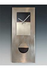LEONIE LACOUETTE STEEL & NICKEL PENDULUM CLOCK