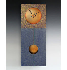 LEONIE LACOUETTE JANE BLUE & GOLD PENDULUM CLOCK