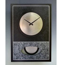 LEONIE LACOUETTE BLACK & SILVER WALID CLOCK