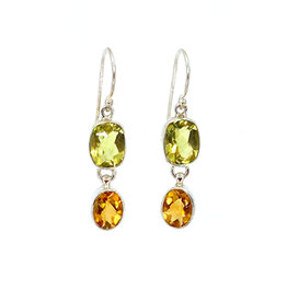 ACLEONI LEMON QUARTZ & CITRINE EARRINGS