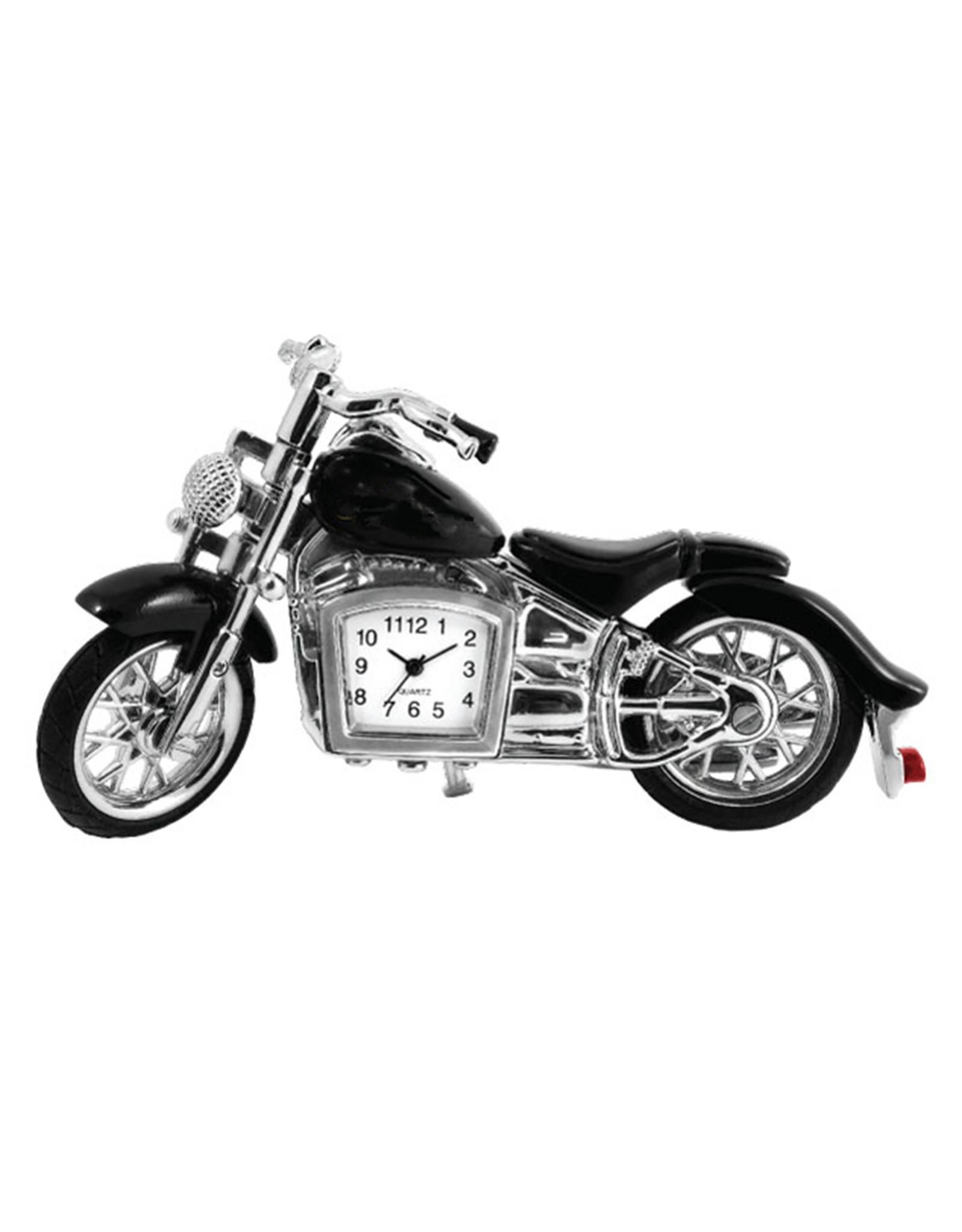 SANIS BLACK MOTORCYCLE MINIATURE CLOCK