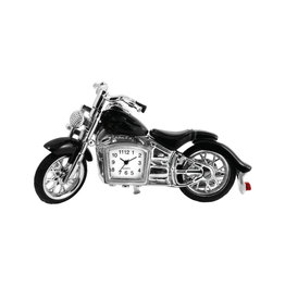 SANIS BLACK MOTORCYCLE MINIATURE CLOCK