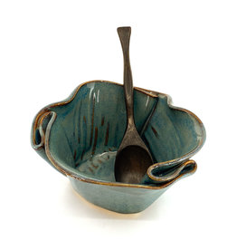 HILBORN POTTERY GUACAMOLE BOWL WITH SPOON