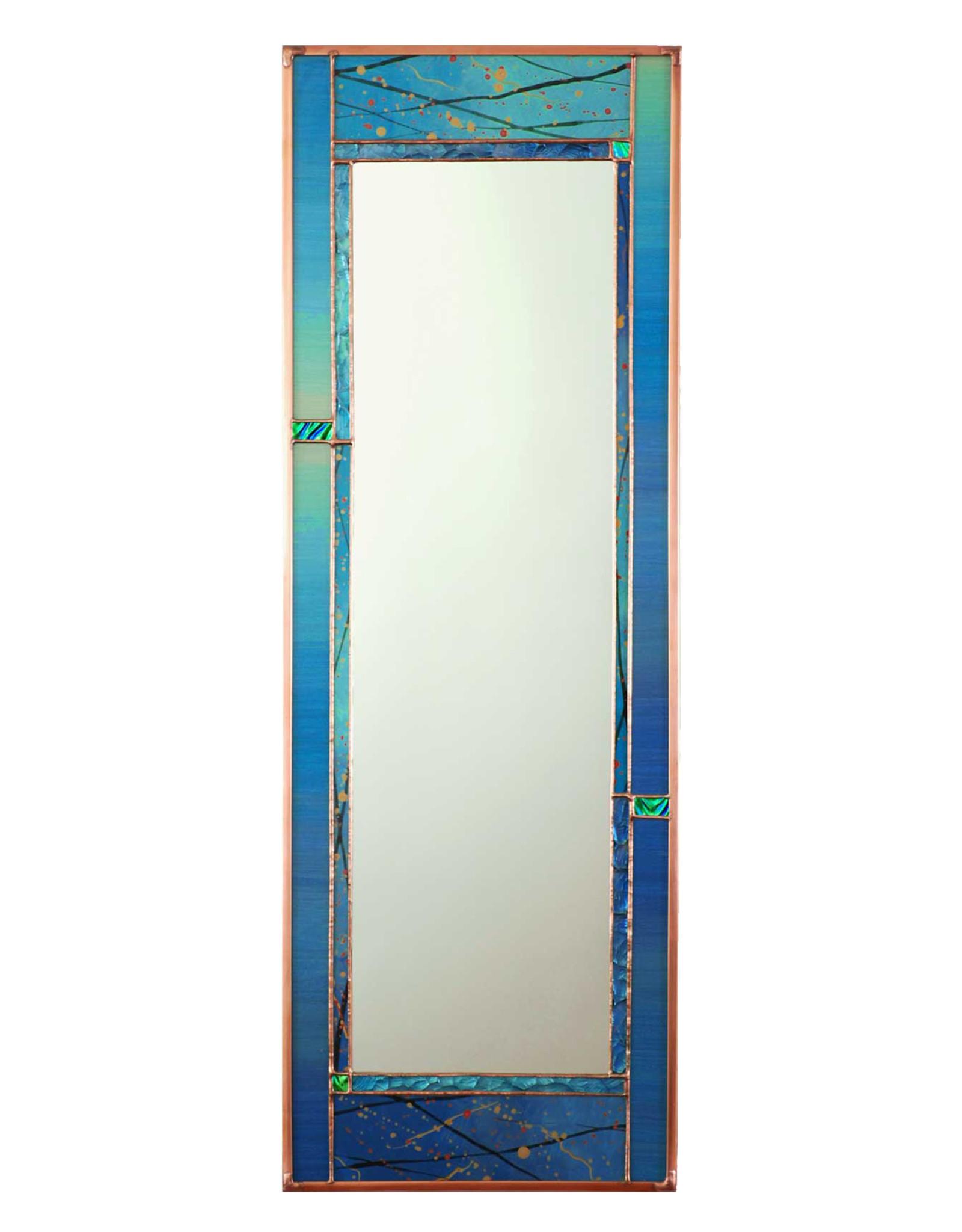LIGHT IMAGES GLASS AQUA DUSK MIRROR