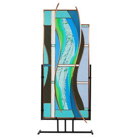 LIGHT IMAGES GLASS RIVERBANK FREESTANDING PANEL