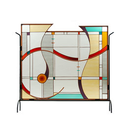 LIGHT IMAGES GLASS MIRO FIREPLACE SCREEN
