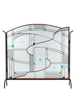 LIGHT IMAGES GLASS CONFLUENCE FIREPLACE SCREEN